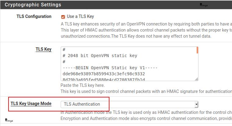 TLS pour l'authentification OpenVPN sous pfSense - Provya