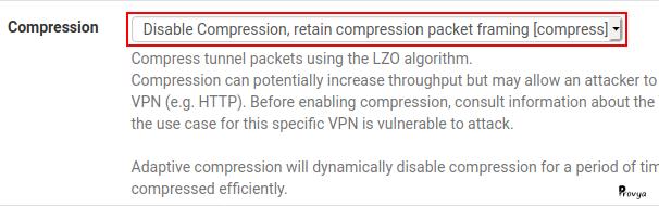 Désactiver la compression LZO sur les liens OpenVPN sous pfSense - Provya